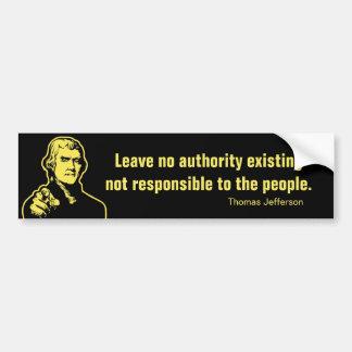 Jefferson-Zitat-Autoaufkleber
