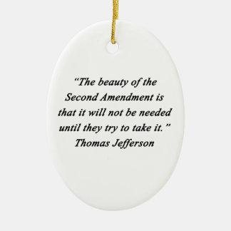 Jefferson - zweite Änderung Ovales Keramik Ornament