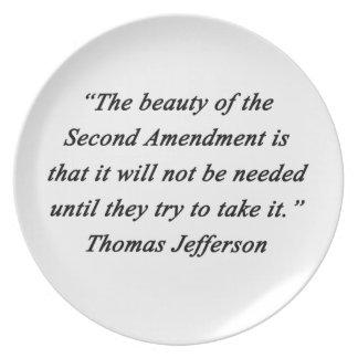 Jefferson - zweite Änderung Teller
