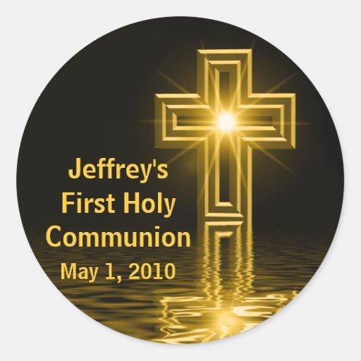 Jeffreys erste heilige Kommunions-Aufkleber