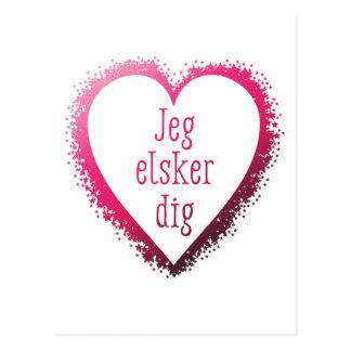 Jeg elsker Grabung, i-Liebe Sie auf Dänische im Postkarte