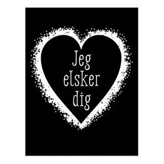 Jeg elsker Grabung, i-Liebe Sie im dänischen Postkarte