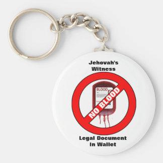 Jehovahs Zeuge - kein Blut - Schlüsselkette Standard Runder Schlüsselanhänger