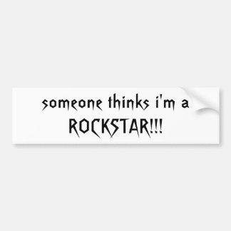 jemand denkt, dass ich ein ROCKSTAR!! bin! - Beson Autoaufkleber