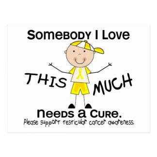 Jemand i-Liebe - Testikular- Krebs (Junge) Postkarte