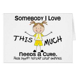 Jemand i-Liebe - Testikular- Krebs (Mädchen) Karte