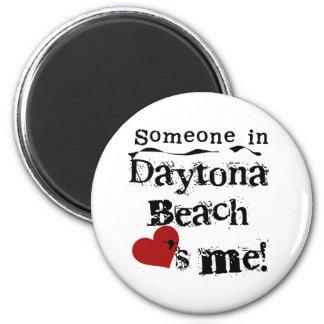 Jemand in Daytona Beach Runder Magnet 5,1 Cm