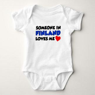 Jemand in Finnland-Lieben ich Baby Strampler