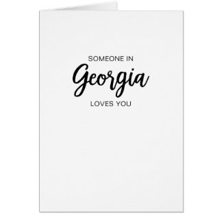 Jemand in Georgia-Lieben Sie - Gruß-Karte Karte