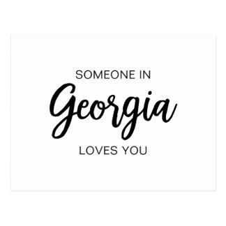 Jemand in Georgia-Lieben Sie - Postkarte