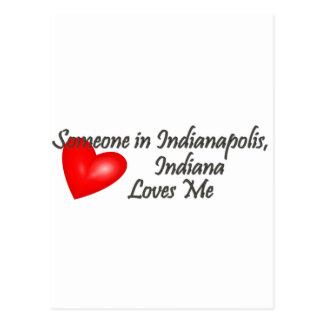 Jemand in Indianapolis-Lieben ich Postkarte