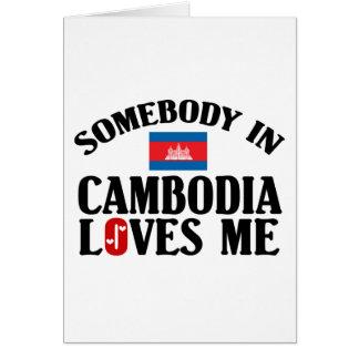 Jemand in Kambodscha-Lieben ich Karte