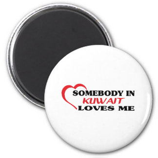 Jemand in Kuwait-Lieben ich Runder Magnet 5,7 Cm