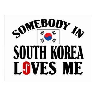 Jemand in Südkorea-Lieben ich Postkarte