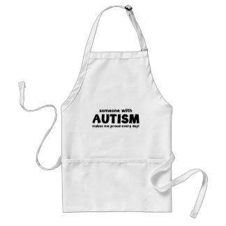 Jemand mit Autismus macht mich stolz jeden Tag Schürze