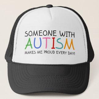 Jemand mit Autismus macht mich stolzes tägliches Truckerkappe