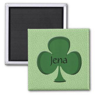 Jena-Kleeblatt-Namen-Magnet Quadratischer Magnet