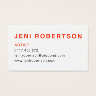 Jeni Robertson Visitenkarte