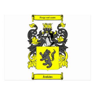Jenkins (englisches) Wappen Postkarte