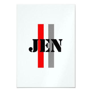 Jennifer 8,9 X 12,7 Cm Einladungskarte