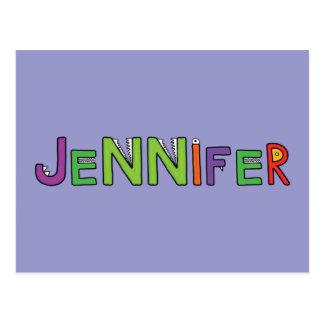 """""""Jennifer"""" Monster-Buchstaben Postkarten"""