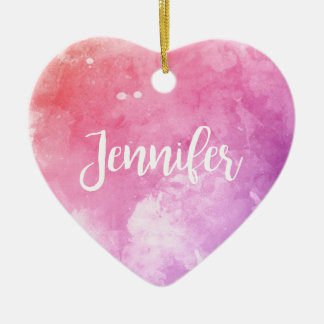 Jennifer-Name Keramik Herz-Ornament