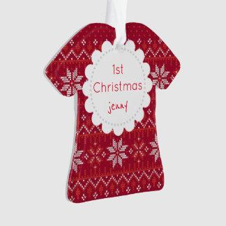 Jenny 1. Weihnachten Ornament