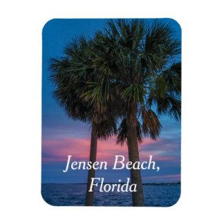 Jensen-Strand-Palme und Sonnenuntergangmagnet Magnet