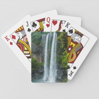 Jeongbang Wasserfall, Südkorea Spielkarten