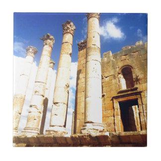 Jerash römische Säulen Keramikfliese