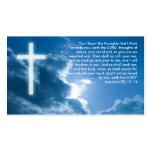 Jeremias 29; 11-14 - Christliche Geschäfts-Karte Visitenkartenvorlage