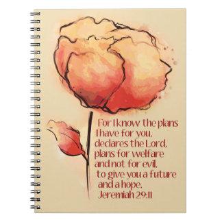 """Jeremias-29:11 """"ich kenne die Pläne, die ich für Notizblock"""