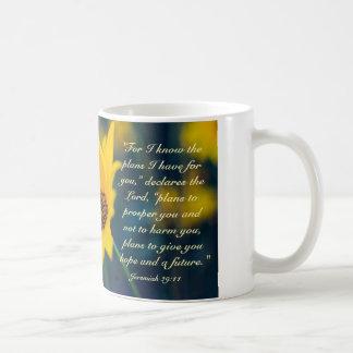 Jeremias-29:11, kenne ich die Pläne, die ich für Kaffeetasse