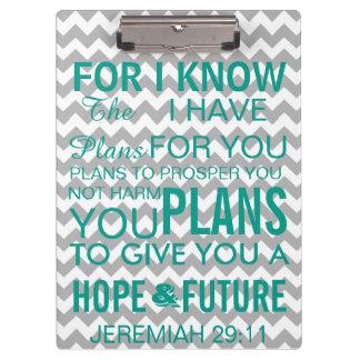 Jeremias-29:11 Klemmbrett