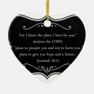 Jeremias-29:11 kundenspezifisches christliches keramik ornament