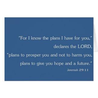Jeremias-29:11 Raum-christliche Inspirations-Karte Karte