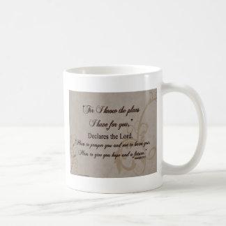 Jeremias-29:11 Schrifts-Geschenk Kaffeetasse