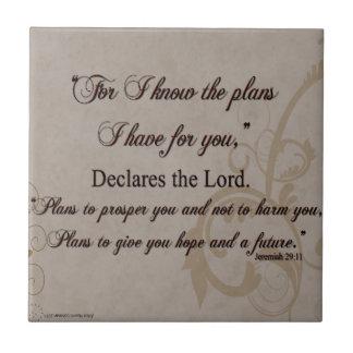 Jeremias-29:11 Schrifts-Geschenk Keramikfliese