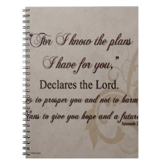 Jeremias-29:11 Schrifts-Geschenk Notizblock