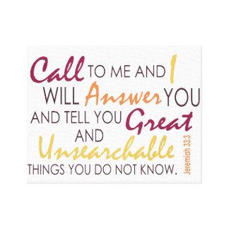 Jeremias-33:3 Leinwanddruck