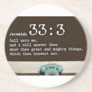 Jeremias-33:3 Sandstein Untersetzer