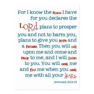 Jeremias-Plan-christliche Bibel-Zitat-Karte Postkarte