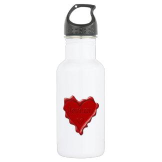 Jeremy. Rotes Herzwachs-Siegel mit NamensJeremy Edelstahlflasche