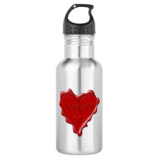 Jeremy. Rotes Herzwachs-Siegel mit NamensJeremy Trinkflasche