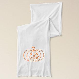 Jersey-Strick-Schal-Halloween-Kürbis Schal