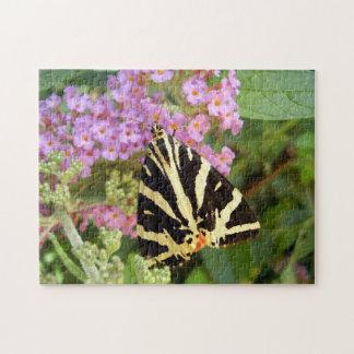 Jersey-Tiger-Schmetterlings-Foto-Puzzlespiel mit Puzzle