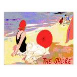 Jersey-Ufer Vintag Postkarte