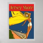 Jersey-Ufer-Vintage Art Plakatdruck