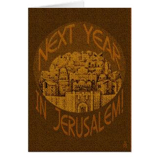 Jerusalem Brown - personalisiert Karte