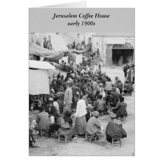 Jerusalem-Café, frühe 1900s Karte